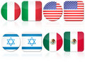 Set of 8 flag Royalty Free Stock Photography