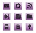 Set of 9 gray icons. Royalty Free Stock Image