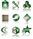 Set of 9 Logos Stock Photo