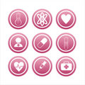 Set of 9 medical signs Royalty Free Stock Photo