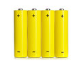 Set of aa batteries on white background Stock Photos