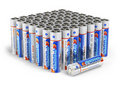 Set of AA size batteries Stock Photos