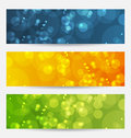 Set of abstract backgrounds with bokeh effect Stock Photos