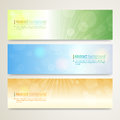 Set of abstract banner design with twinkle background in vector Royalty Free Stock Photo