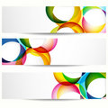 Set of abstract banners. Royalty Free Stock Photo