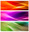 Set of abstract banners three colorful web Stock Photo