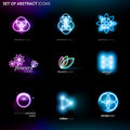 Set of abstract brands / icons Royalty Free Stock Photo