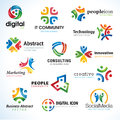 Set of abstract business icons Stock Images