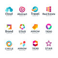 Set of abstract business logo icons