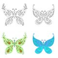 Set abstract butterflies Royalty Free Stock Image