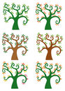 Set of abstract cartoon tree Royalty Free Stock Image