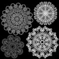 Set of abstract circle lace patterns background Royalty Free Stock Image