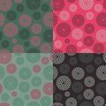 Set of Abstract Circle Seamless Pattern Stock Image