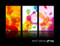 Set of abstract colorful circle illustrations. Royalty Free Stock Photo