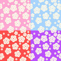 Set of Abstract Colorful Floral Pattern Royalty Free Stock Photo