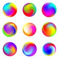 Set of abstract colorful gradients. Vector gradient abstract circles