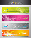 Set of abstract colorful headers with lines Royalty Free Stock Photo