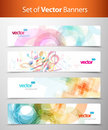 Set of abstract colorful web headers. Stock Photos
