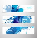 Set of abstract colorful web headers. Royalty Free Stock Photography