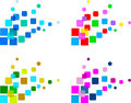 Set of abstract design elements, vector Royalty Free Stock Image