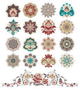 Set of abstract design floral elements. Royalty Free Stock Photography