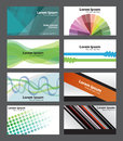 Set of abstract fresh funky visiting cards can be used professionally vector eps Stock Photography