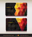 Set of abstract geometric business card this is file eps format Stock Photography