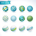 Set of  abstract globe icons Stock Images