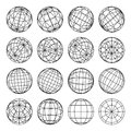 Set of abstract globes, vector illustration Royalty Free Stock Photo