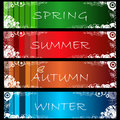 Set of abstract grunge seasonal web banners no. 1 Stock Photography