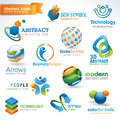 Set of abstract  icons Royalty Free Stock Photo