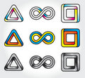 Set of abstract infinite logos Stock Image