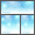 Set of abstract light blue banners for your design Stock Photography