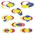 set Abstract logo - simple Royalty Free Stock Photo