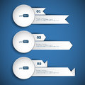 Set of abstract paper banners white on blue background vector eps illustration Stock Photography