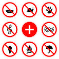 Set of abstract prohibiting signs Stock Image