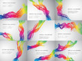 Set of abstract rainbow ribbon background