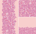 Set of abstract roses seamless pattern and borders backgrounds this is file eps format Royalty Free Stock Photos