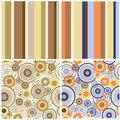 Set of abstract seamless patterns a Stock Image