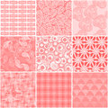Set of 9 abstract seamless patterns Royalty Free Stock Photo