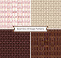Set of abstract seamless vintage patterns vector Royalty Free Stock Photography