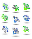 Set of abstract symbols Stock Photography