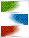 Set of abstract tech banners Stock Image