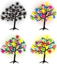 Set of abstract tree Royalty Free Stock Photos