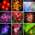 Set of abstract vector mosaic   backgrounds. Stock Photo