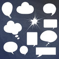 Set abstract vector white speech bubbles. Vector illustration Royalty Free Stock Image
