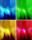 Set of abstract wavy backgrounds 2 Royalty Free Stock Photo