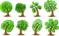 Set abstracts trees,vector Stock Image
