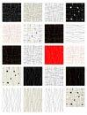 Set abstrakcjonistyczny bezszwowy wzór dla twój projekta Obrazy Royalty Free