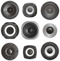 Set acoustic speaker Royalty Free Stock Photography